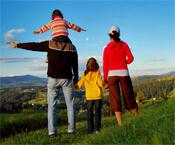 Die Landschaft mit der Familien erleben