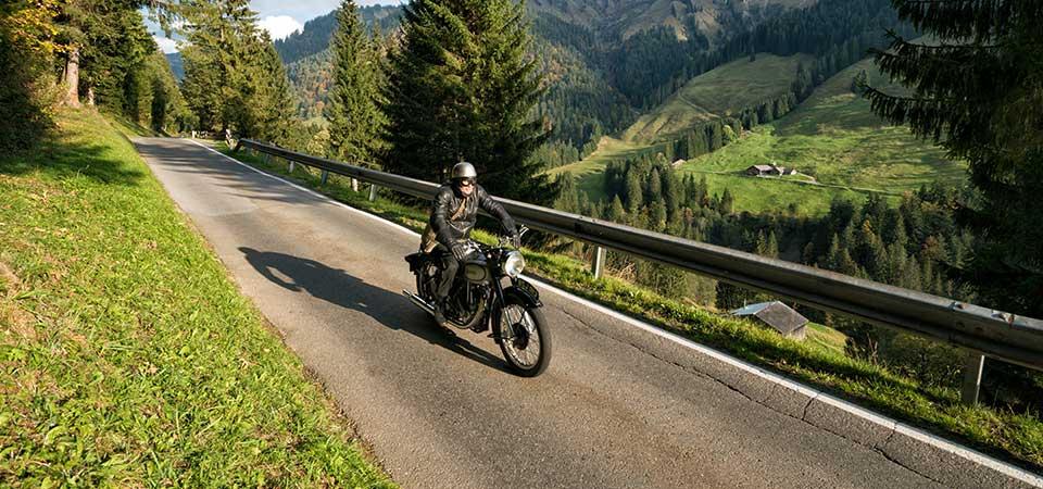 Motorradfahrer und Motorradtouren
